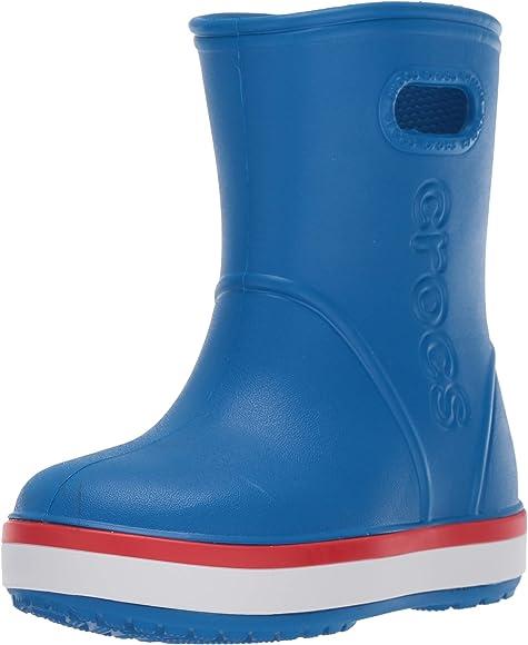 10 M US Toddler Crocs Kids Crocband Rain Boot Boot pink lemonade//lavender