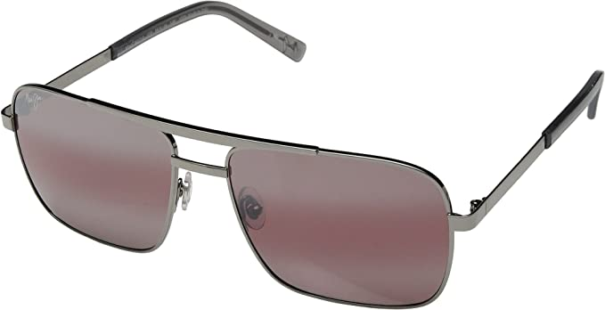 Maui Jim Gafas de sol COMPASS R714-02D Gunmetal and Maui rose lens