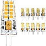 Ascher 10X G4 3W Ampoules LED,Blanc Chaud 2900K, 300 lumens, AC /DC 12V - Equivalent à lampe halogène 30W - Angle du faisceau 360°
