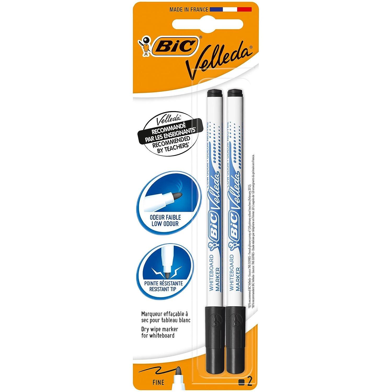 colore: Nero confezioni 2 Blue BIC Velleda White Board Marker confezione da 2