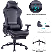 HEALGEN Reclining Gaming Chair with Large Lumbar Support Cushion Racing Style Video Game PC Computer Gamer Gaming Chairs Ergonomic Office High Back Chair with Headrest