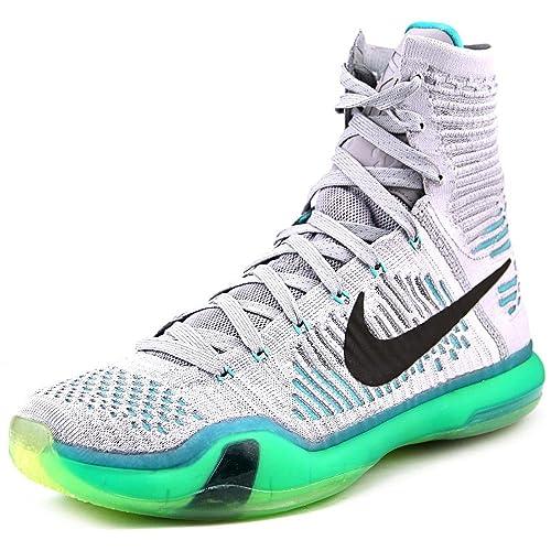 bcb3cc93a3b7a Nike Kobe X Elite Men's Shoes Wolf Grey/Light Retro-White 718763-041