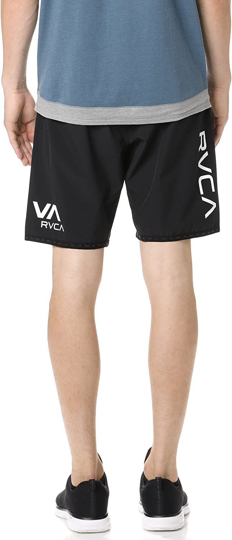Black surf skate swim RVCA Mens VA Sport Americana Shorts