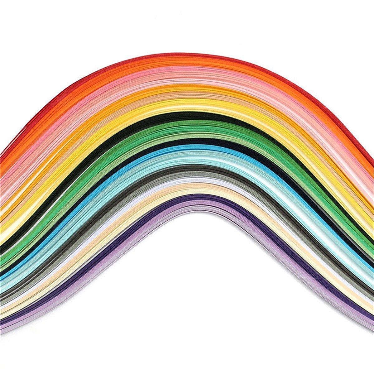 gespout 260 X carta quilling, vari colori strisce di carta, per DIY artigianato carta, Origami, Froebelsterne.