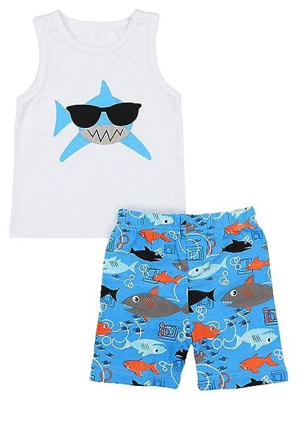 Amazon.com: Bebé Niño Ropa de Bebé Tiburón Doo Doo Doo ...