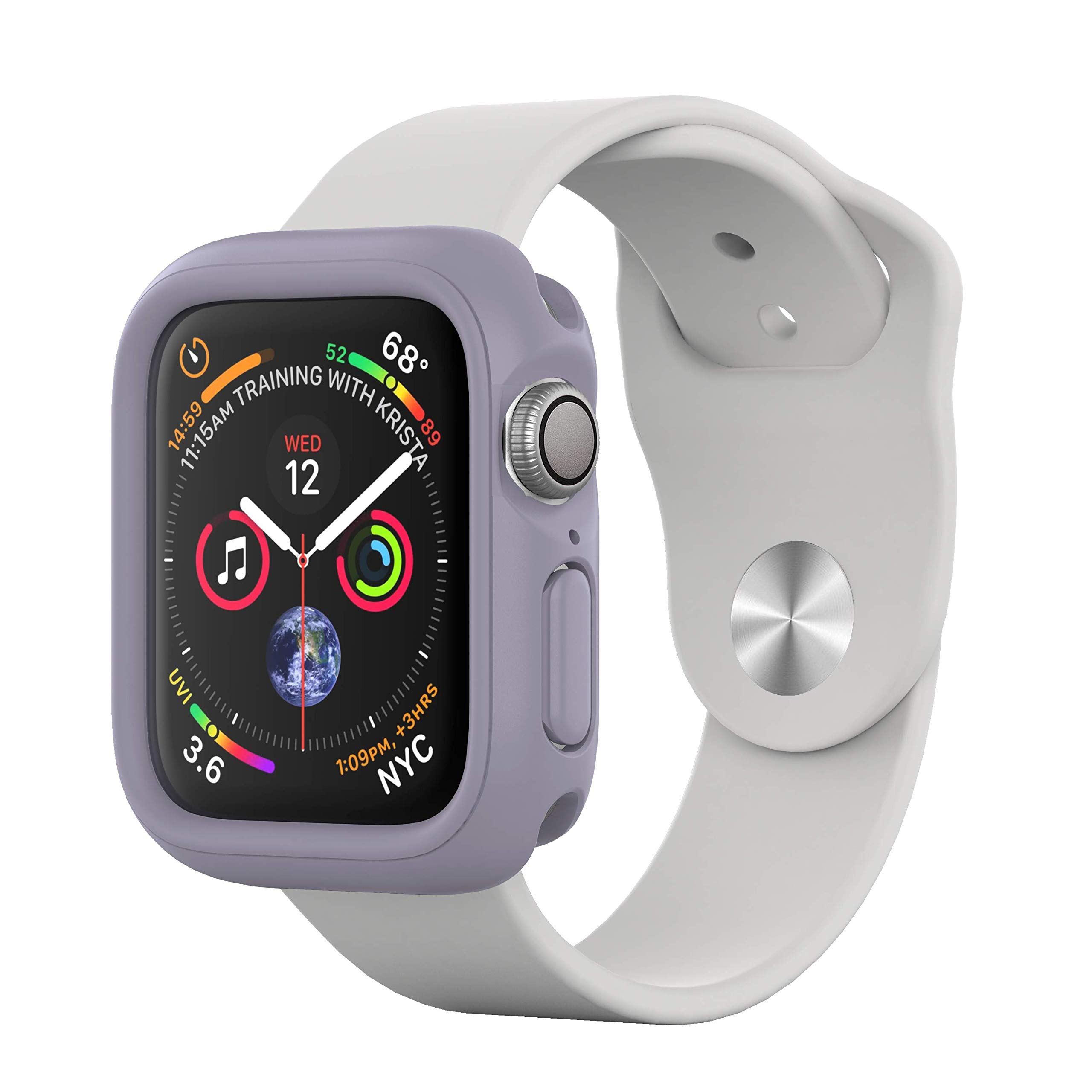 RhinoShield Bumper Case for Apple Watch Series 4 [40mm - NOT 44mm] [CrashGuard NX] | Shock Absorbent Slim Design Protective Cover [1.2M/4ft Drop Protection] - Lavender by RhinoShield