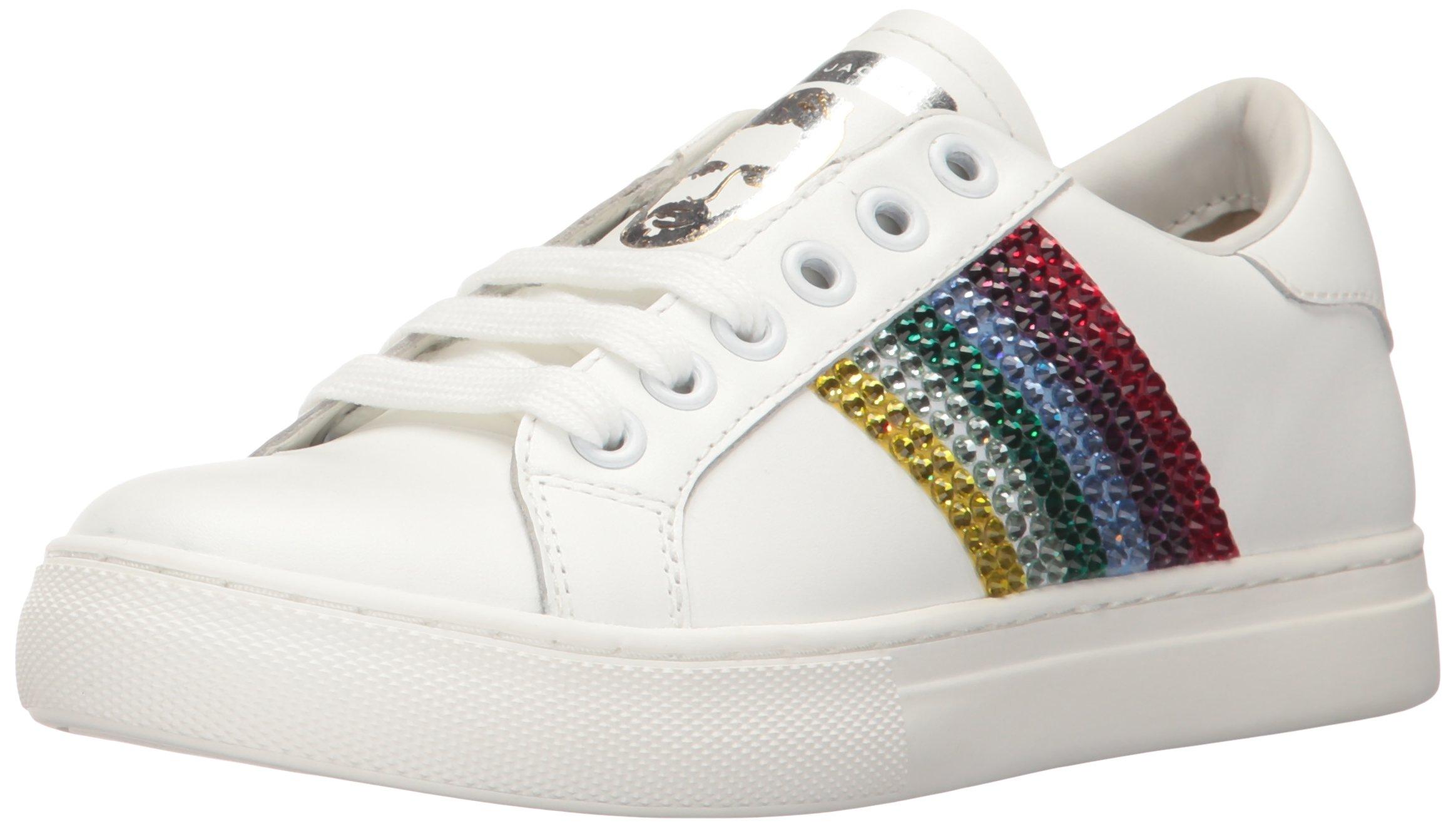 Marc Jacobs Women's Empire Strass Low Top Sneaker, White/Multi, 37 M EU (7 US)