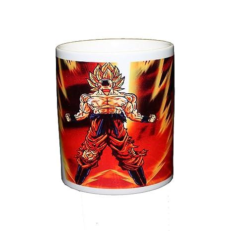 Detalles de Taza magica azul Dragon Ball goku super saiyan transformacion -  Magic mug M2