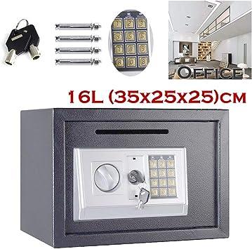 Caja Fuerte de Seguridad con código Digital Grande (35 x 25 x 25 cm), Color Gris: Amazon.es: Bricolaje y herramientas