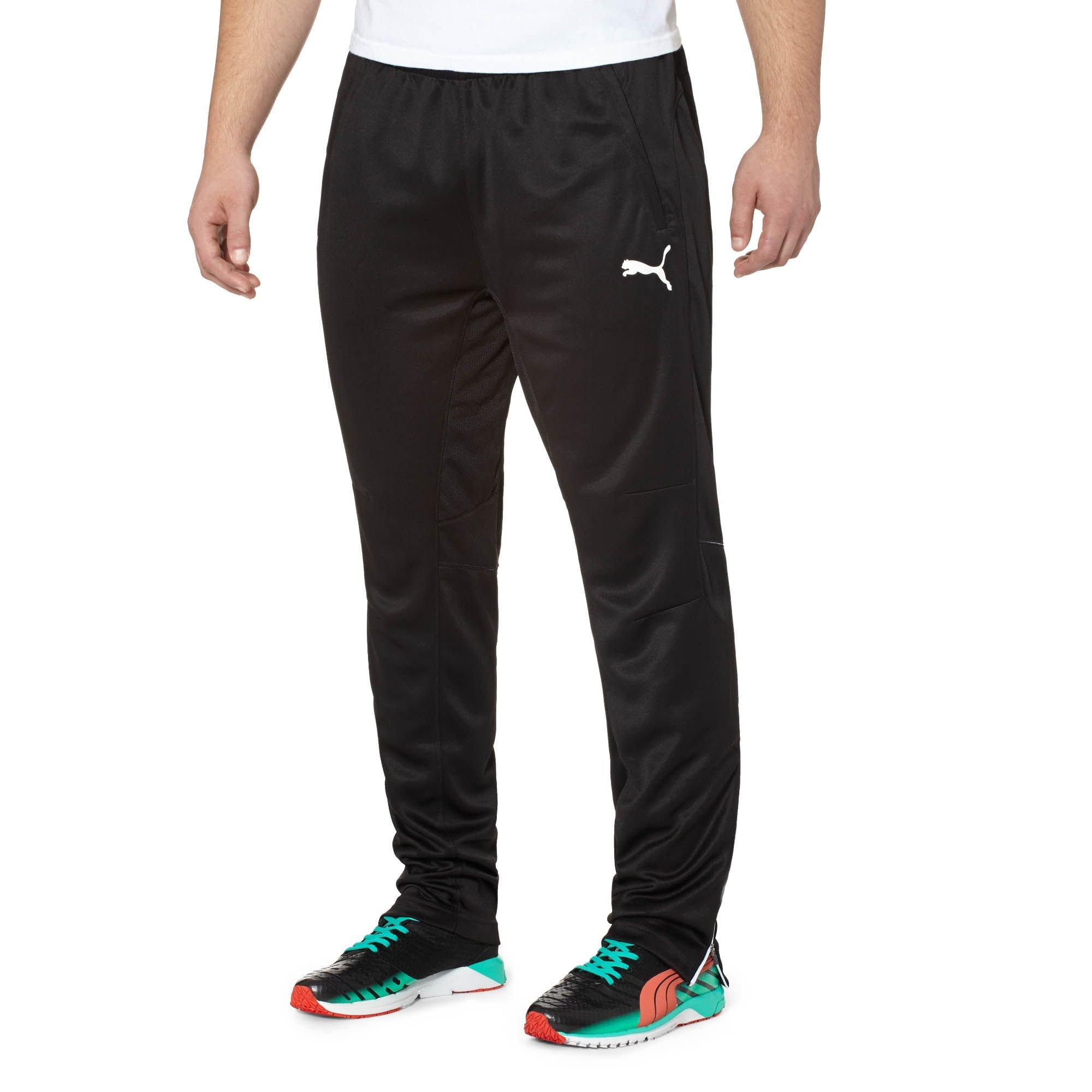 PUMA Men's Training Pant, Black/White YM