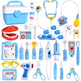FUN LITTLE TOYS 31Pcs Doctor Medical Kit - Pretend Play Set for Kids Doctor Role Play Costume Dress-Up