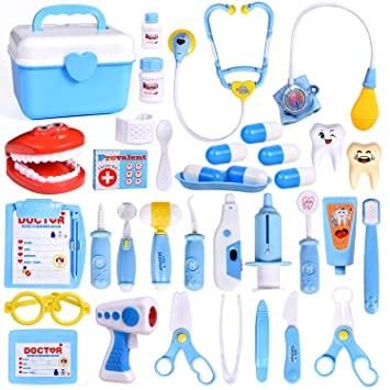 Amazon Com Fun Little Toys 31pcs Doctor Medical Kit