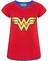 DC Comics Wonder Woman Metallic Logo Girl's T-Shirt