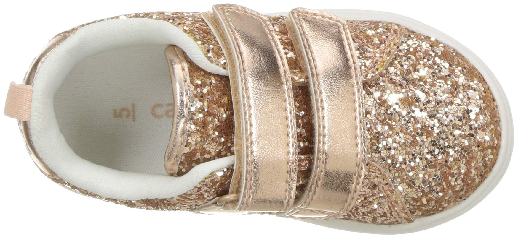 carter's Girls' Andee2 Rosegold Casual Sneaker, Rose Gold, 11 M US Little Kid by Carter's (Image #8)