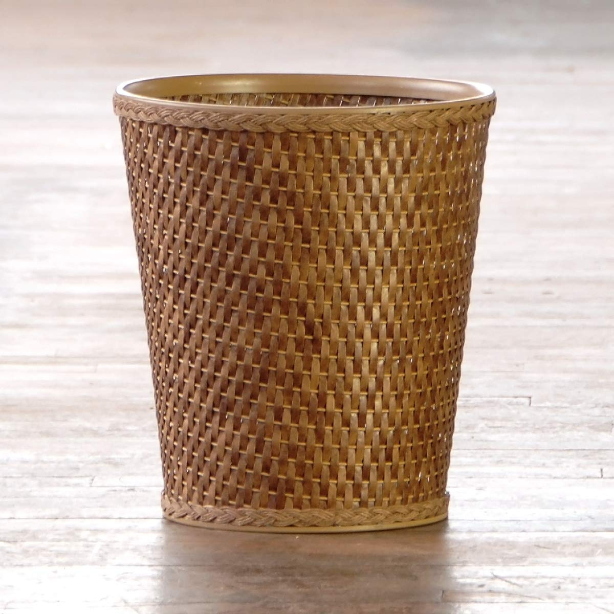 CDM product LaMont Home Carter Round Waste-Basket, Cappuccino big image
