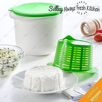 [Original] silley® Cheese Maker ☆ Fromager plástico - Máquina de hacer del queso gastos - 1Litre de leche=1 queso en menos de 2H - Molde de queso: ...