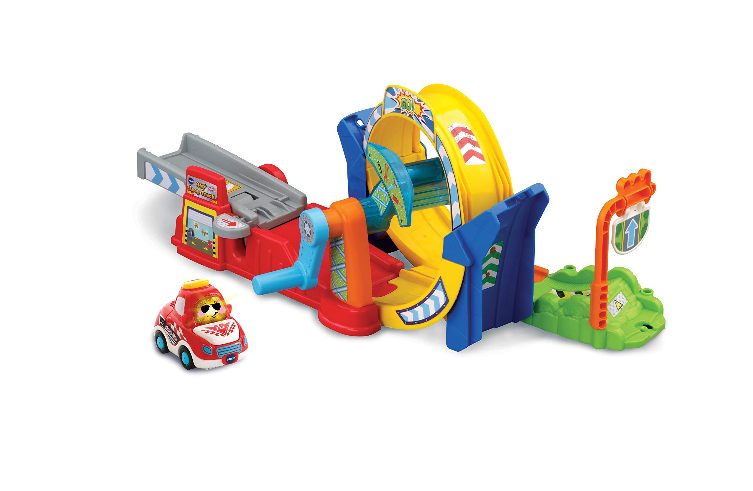 VTech Toot-Toot Drivers 360 Loop Track, Toy Car racing Track for Boys and Girls, Car Tracks for Kids with Lights and Sounds, Musical Toy Race Track for Children Aged 1 to 5 Years