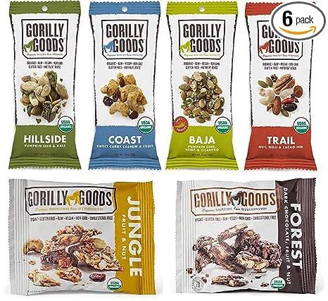 Gorilly Goods Organic Raw Vegan Trail Mix paquetes de ...