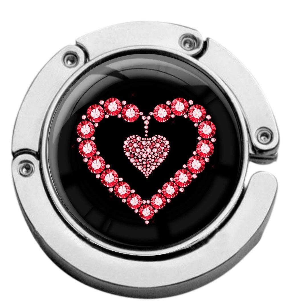 metALUm Taschenaufhä nger in runder Form 'Rotes Herz' 2601094