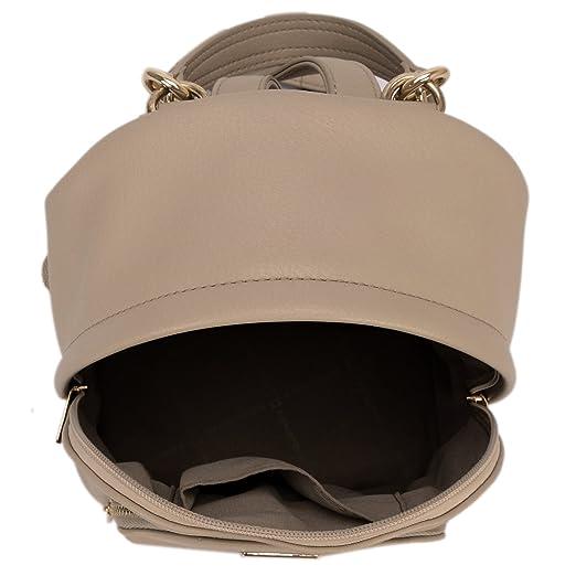 David Jones - Bolso Mochila Mujer Pequeña - Morral Cuero Piel PU Suave - Backpack Daypack Casual Mini Señora Niña - Bolsos de Mano Hombro Viaje ...