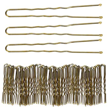 18 pcs U shape bun hair clips pins grips styling black fast delivery uk stock