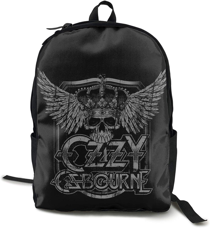 Lanmei Ozzy Osbourne Unisex Classic Fashion Ozzy Osbourne Casual Backpack Travel Backpack Laptop Backpack