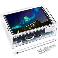 Kuman Ecran Tactile de 3.5 Pouces avec Case de Protection Résolution 320x480 TFT LCD Display pour Rasberry Pi 3B+, 3B, 2B, B+