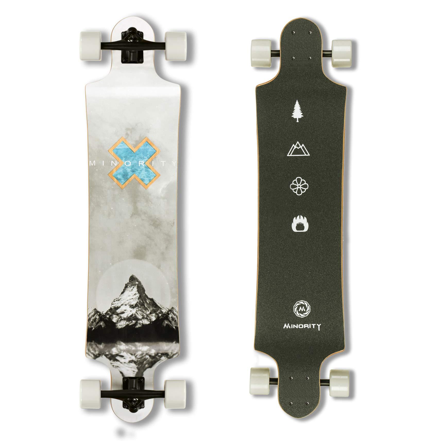 MINORITY Downhill Maple Longboard 40-inch Drop Deck (Alps) by MINORITY