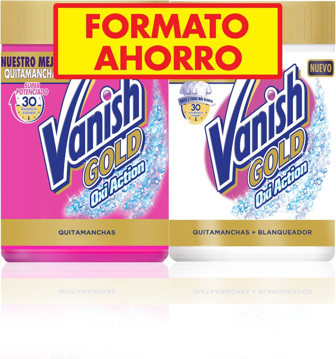 Vanish Gold Oxi Action White Quitamanchas Polvo - Pack de 2 x 470 ...