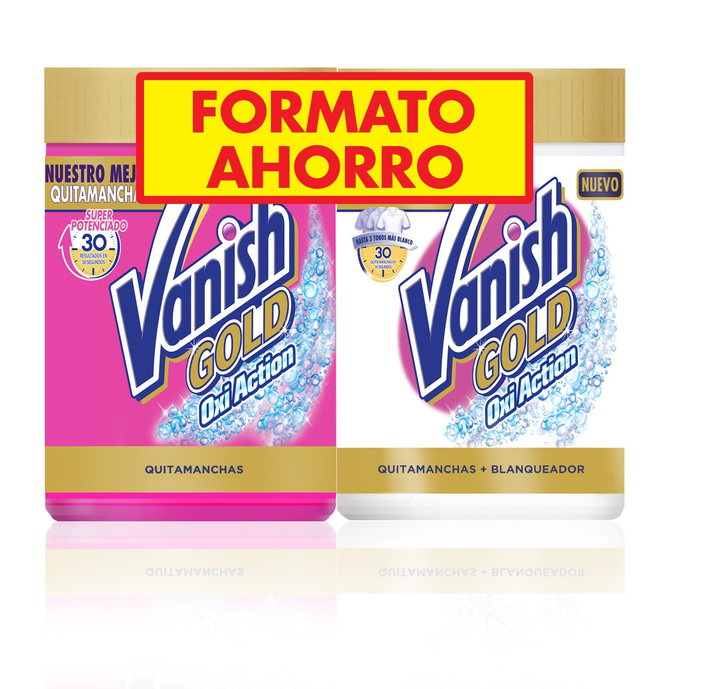 TALLA 2 x 470 gr (940 gr). Vanish Gold Oxi Action White Quitamanchas Polvo - Pack de 2 x 470 gr - Total: 940 g