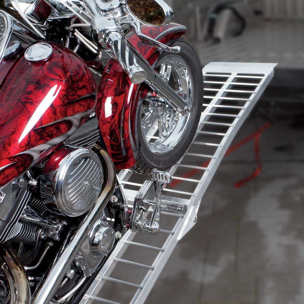 TRACKSIDE Heavy Duty Wide Aluminum Folding Ramp - 8'