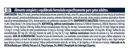 Advance Pienso para Gato Adulto con Pollo y Arroz - 3000 gr: Amazon.es: Productos para mascotas