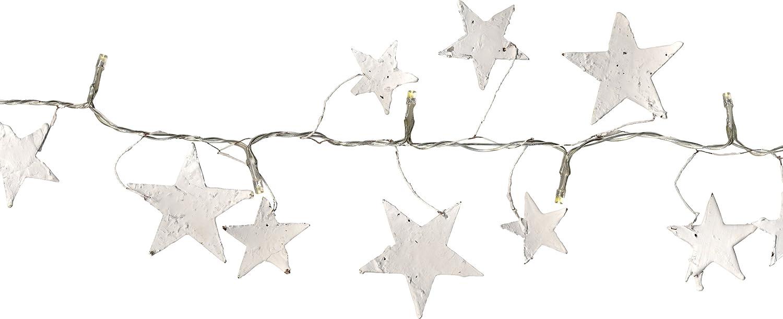 lunghezza 1,5 m Best Season 726-26 con timer a batteria Catena con 16 lucine a LED a forma di stella cavo trasparente