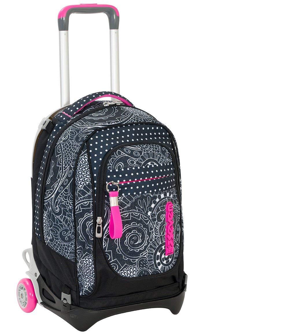 alta calidad Wheeled Wheeled Wheeled Backpack Trolley Seven New Jack Mandala negro  precio razonable