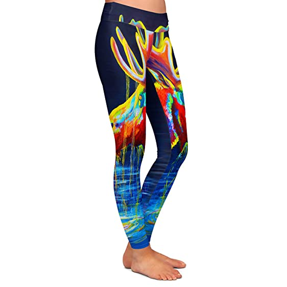 Athletic Yoga Leggings from DiaNoche Designs by Teshia - Moose Drool H