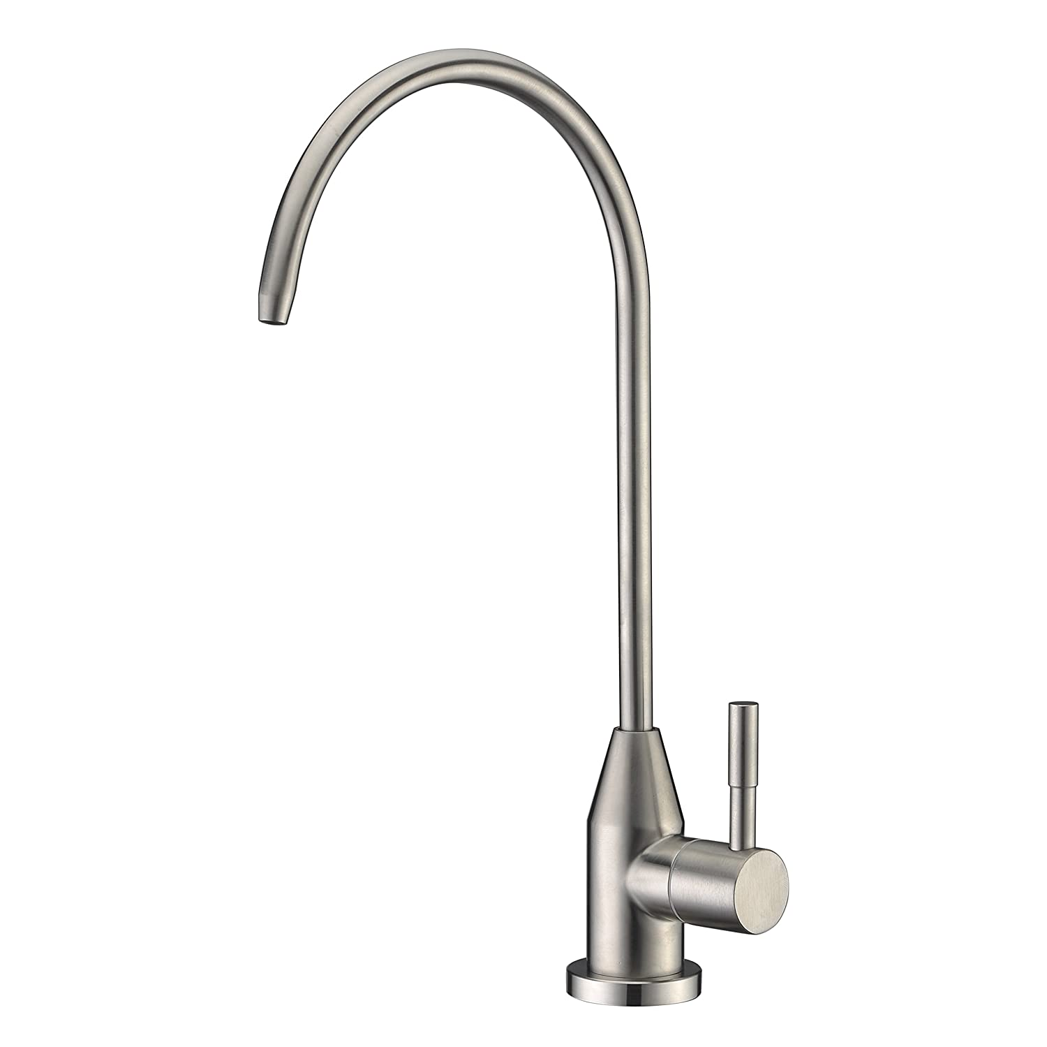 Modern Best Stainless Steel Brushed Nickel Kitchen Bar Sink Drinking Water Purifier Faucet, Commercial Water Filtration Faucet for Under Sink Water Filter System