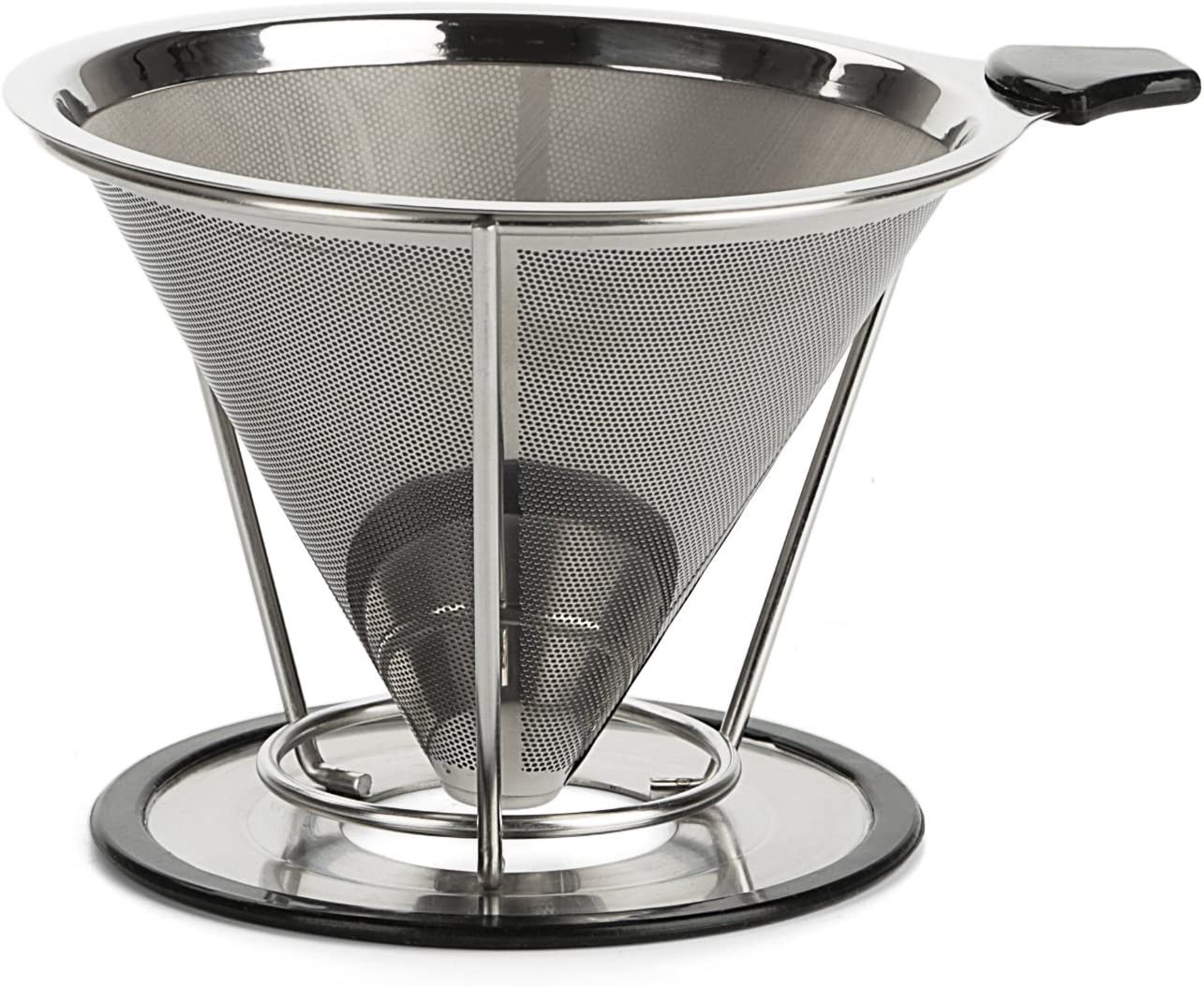 Coffee Dripper, Opacc Stainless Steel Best Pour Over Single Cup Coffee Maker Reusable Permanent Drip Coffee Cone Fliter