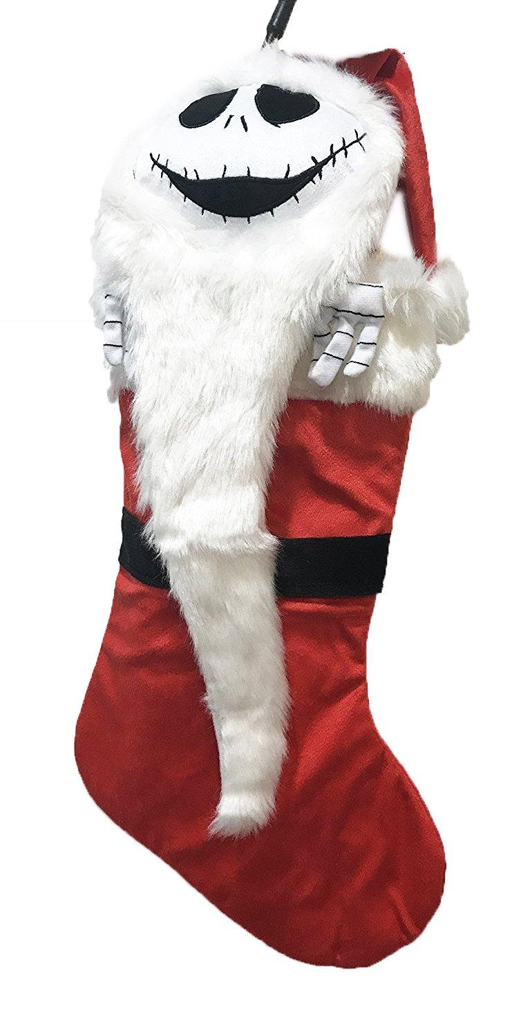 Disney Tim Burtons The Nightmare Before Christmas Jack Skellington Hanging Stocking (Red)