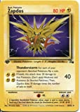 Pokemon Fossil 1st Edition Rare Card #30 Zapdos
