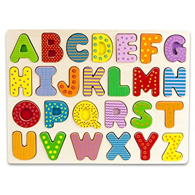 Imagination Generation Professor Poplar's Wooden Alphabet Puzzle Board: Toys & Games