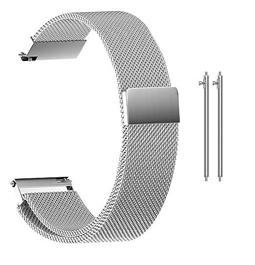 Amazon.com: Budesi 20mm Milanese Magnetic Loop Quick Release ...