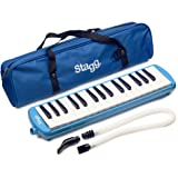 Stagg MELOSTA32BL 32 Note Melodica with Case - Blue