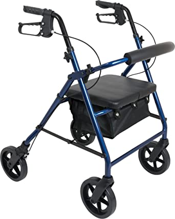 Amazon Com Probasics 4 Wheel Medical Rolling Walker With Wheels