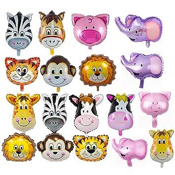 REYOK Globos Animales 18 Piezas Globo de Aluminio Animal ...