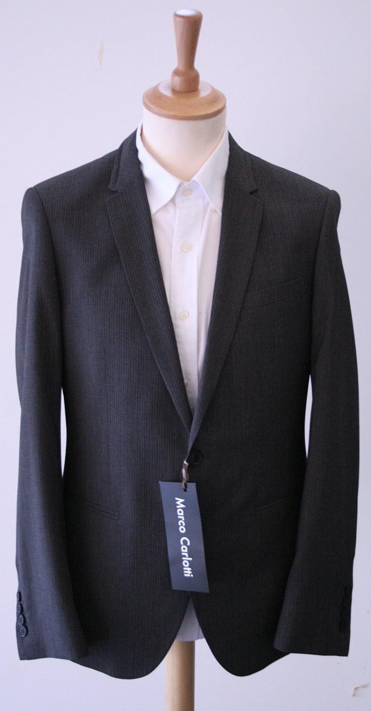 Perfect Suits Marco Carlotti Gris Rayas Funda Traje Delgado ...