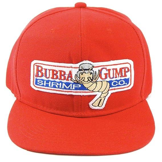 Hat Universe Forrest Gump Gorra Bordada Roja Bubba Shrimp Co Snapback 38cf72db35c