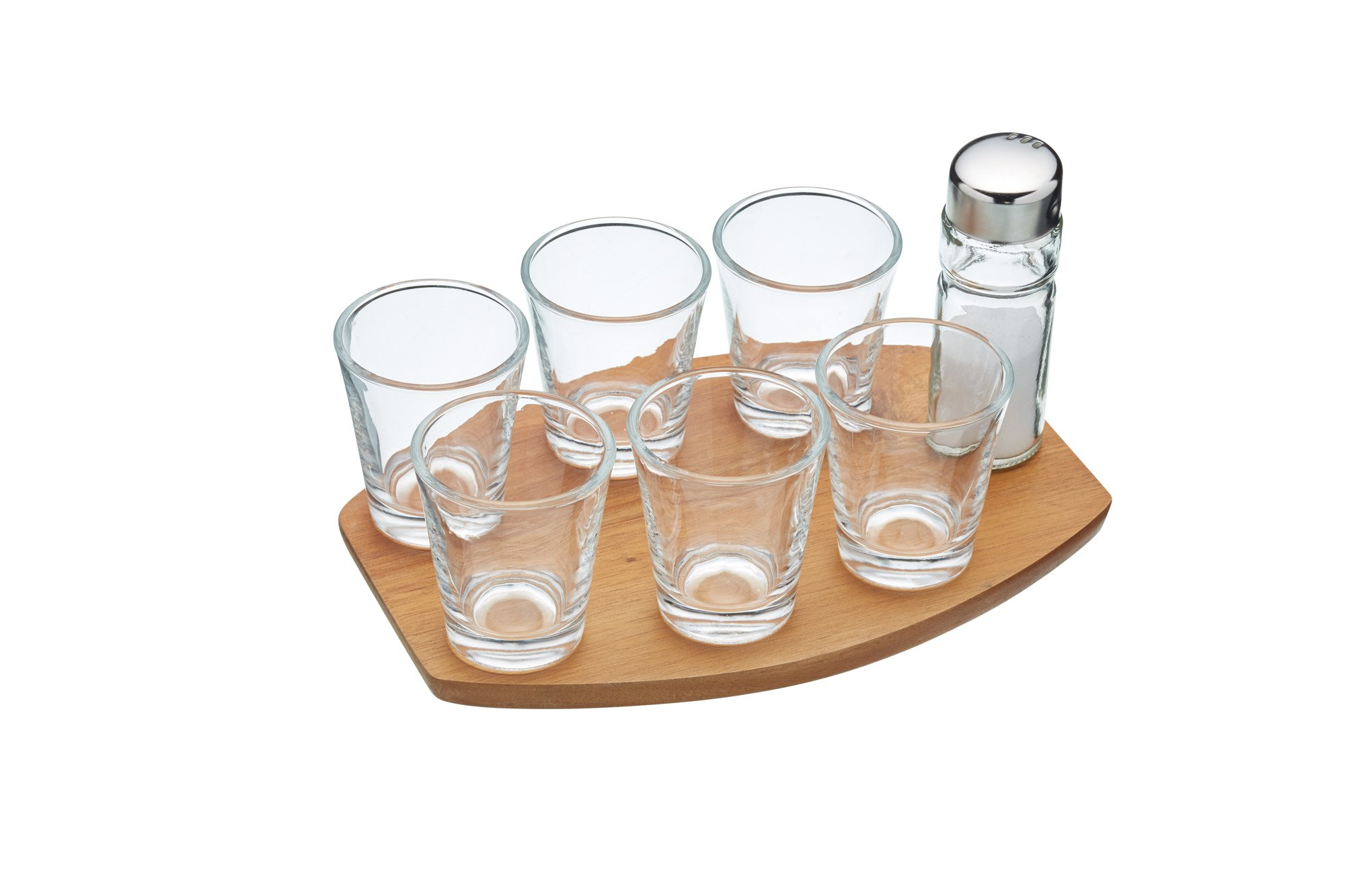 BarCraft BCTEQUILA KitchenCraft Tequila Shot Glass Gift Set, 8 Pieces, Gift Box, 20 x 13.9 x 1 cm