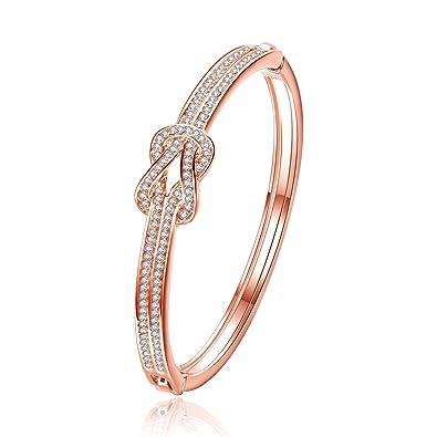 "J.Fée ""The Swan's Dream""Rose Gold Bracelet Swarovski Crystal Bracelet Fine Jewellery Gift Packaging uKHIndNRP"