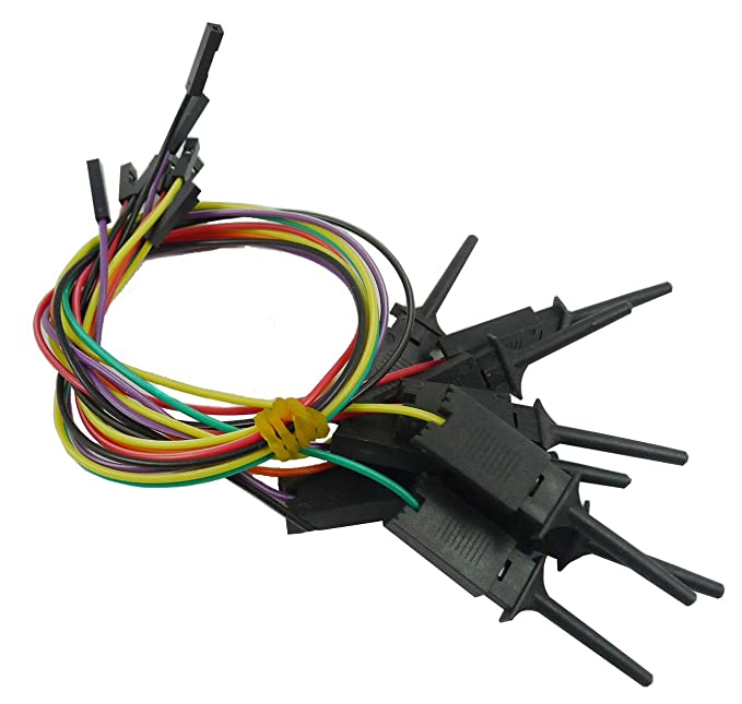 2 Stück 10 Kanäle Logikanalysator Kabel Probe Test Haken Clip Linie