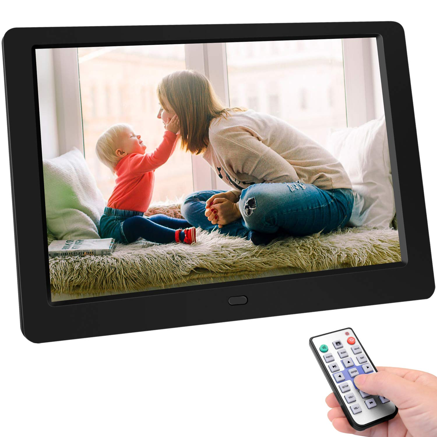 10 Full IPS Display Photo//Music//Video//Calendar Digital Picture Frame 10.1 Inchinch Digital Picture Frame HD 1280x800 16 Support 32GB USB Drives//SD Card,Remote Control Auto On//Off Timer